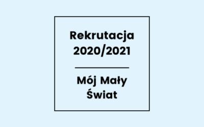 REKRUTACJA NA 2020/2021